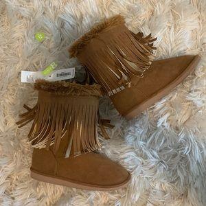 Crazy 8 Girls Fringe Boots
